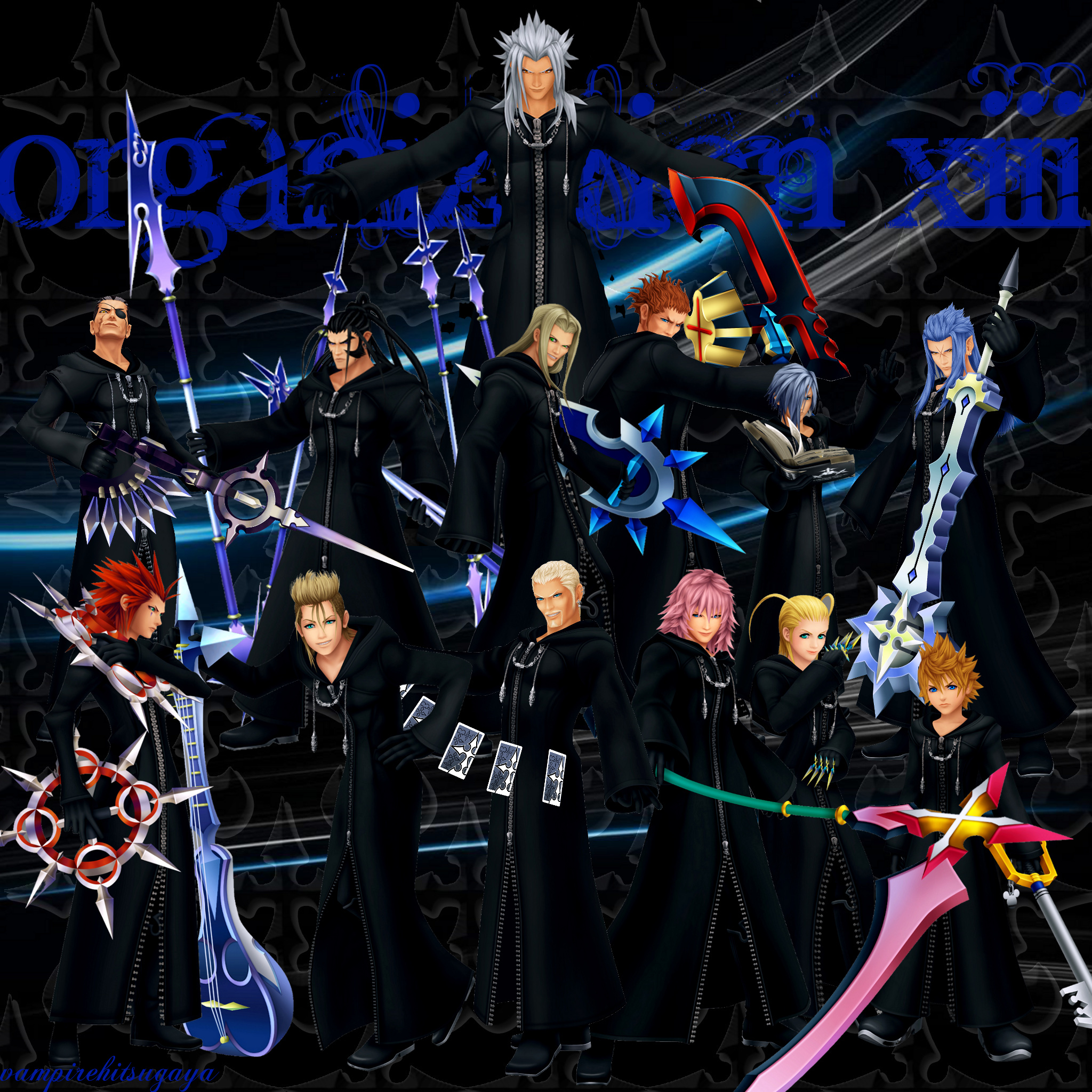 Kingdom Hearts Iphone Wallpaper: Organization XIII By Vampirehitsugaya