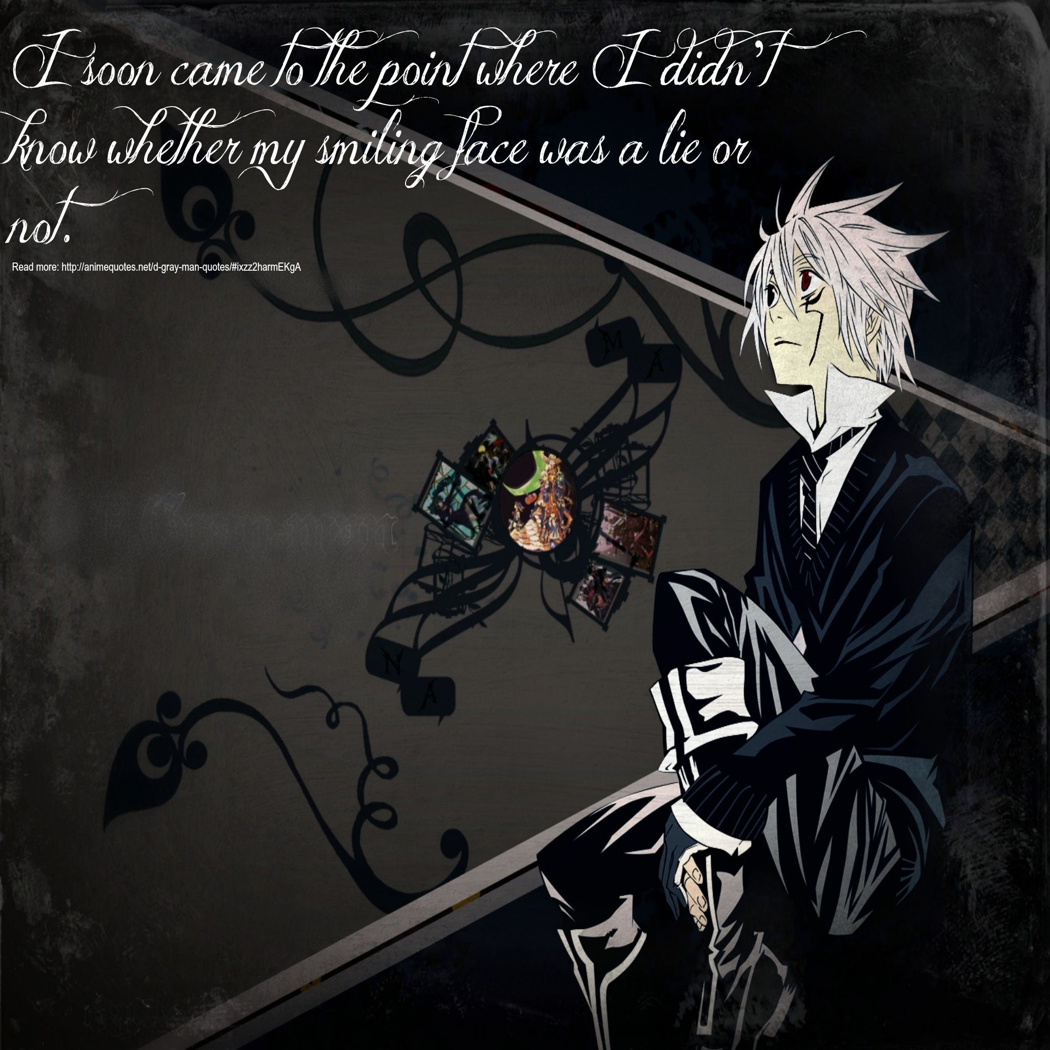 My smiling face~D.Gray man~