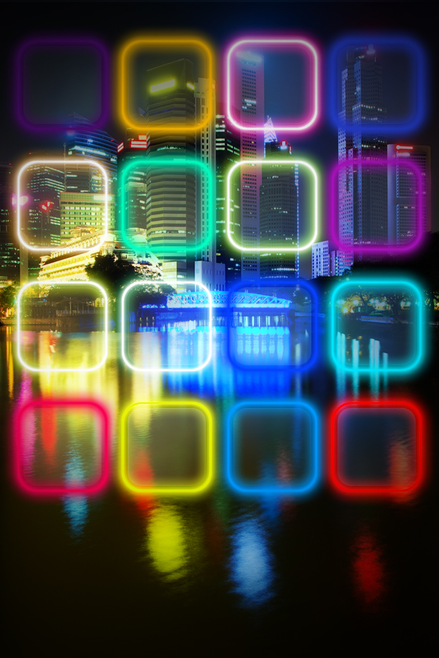 Neon city wallpapers for iphon