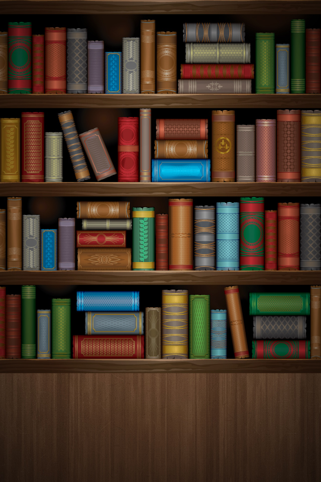Beautiful shelves wallpaper fo